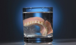 soaking dentures