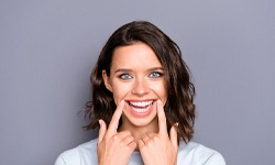 person showing off their healthy smile
